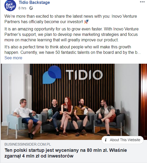 Polish live chat app Tidio raises €930K from Inovo Venture Partners